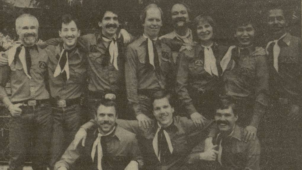 The Foggy City Dancers in a Jan. 31, 1985 issue of 'Bay Area Reporter.' BAR Media, Inc.