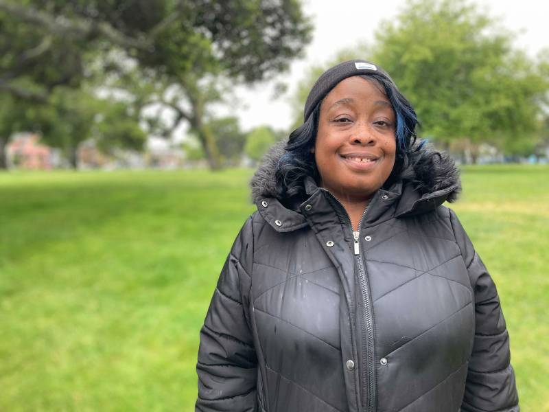 Crystal Martin of Flint's Barbecue at DeFremery Park in West Oakland.