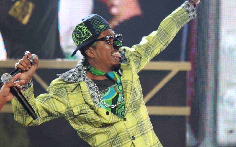 Shock G of Digital Underground performs during the BET Hip Hop Awards in 2010 in Atlanta. Shock G died Thursday at age 57.