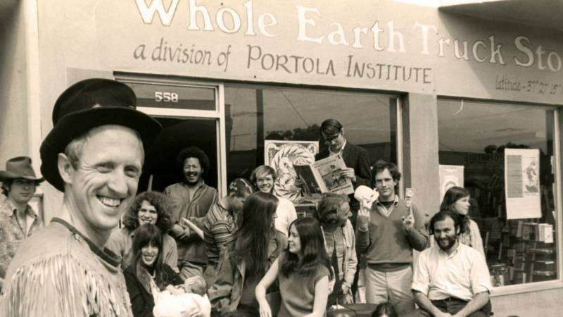 Stewart Brand (foreground, left) is the subject of 'We Are As Gods.'