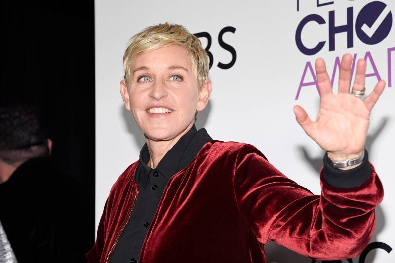 Ellen Degeneres at the People's Choice Awards in 2017.