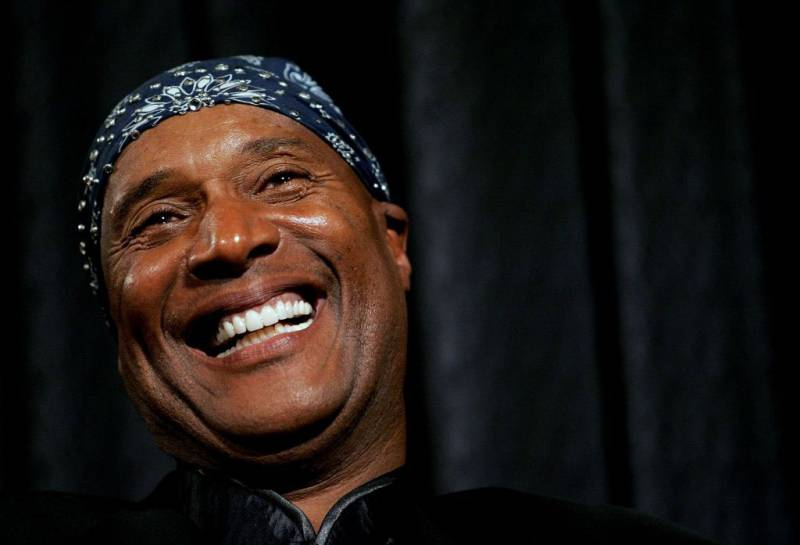 """Comedian Paul Mooney takes part in a discussion panel after the world premiere screening of """"That's What I'm Talking About"""" at The Museum of Television & Radio January 30, 2006 in New York City."""