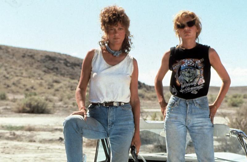 Thelma (Geena Davis) and Louise (Susan Sarandon) in the 1991 hit movie.