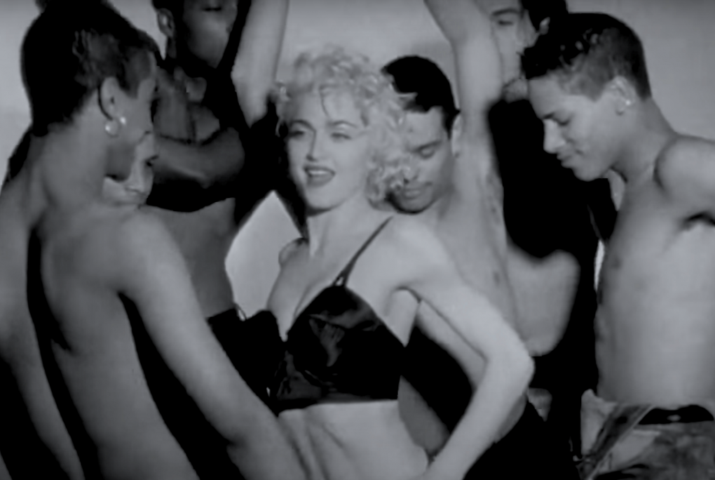 Madonna and her dancers in a moment from her 1991 documentary, 'Truth or Dare.'