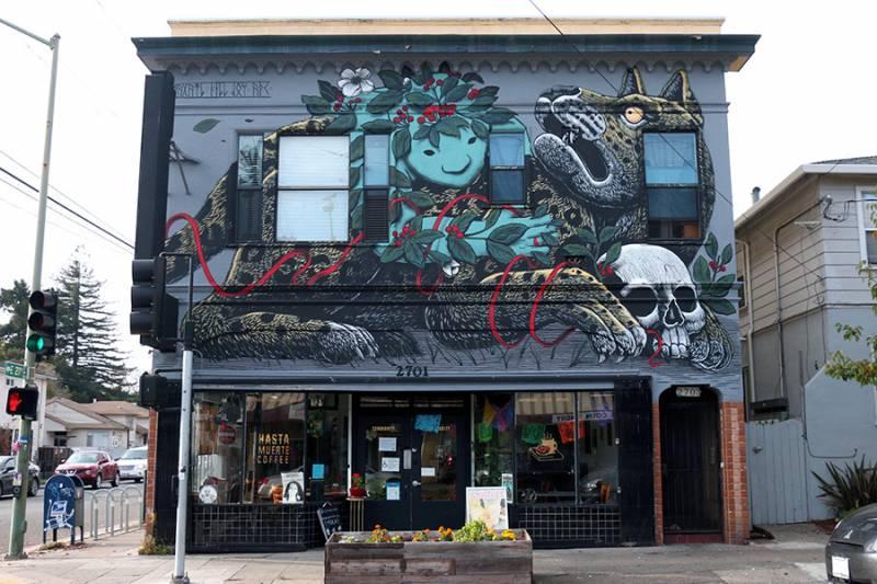 Hasta Muerte's Headquarters on Fruitvale Avenue in East Oakland