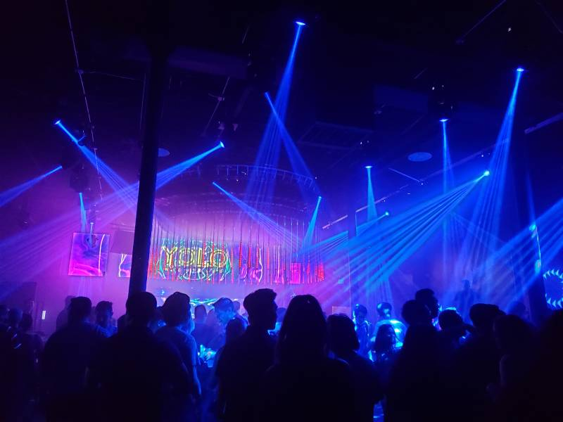 YOLO—the nightclub that replaced Slim's—during opening weekend. June 19, 2021.
