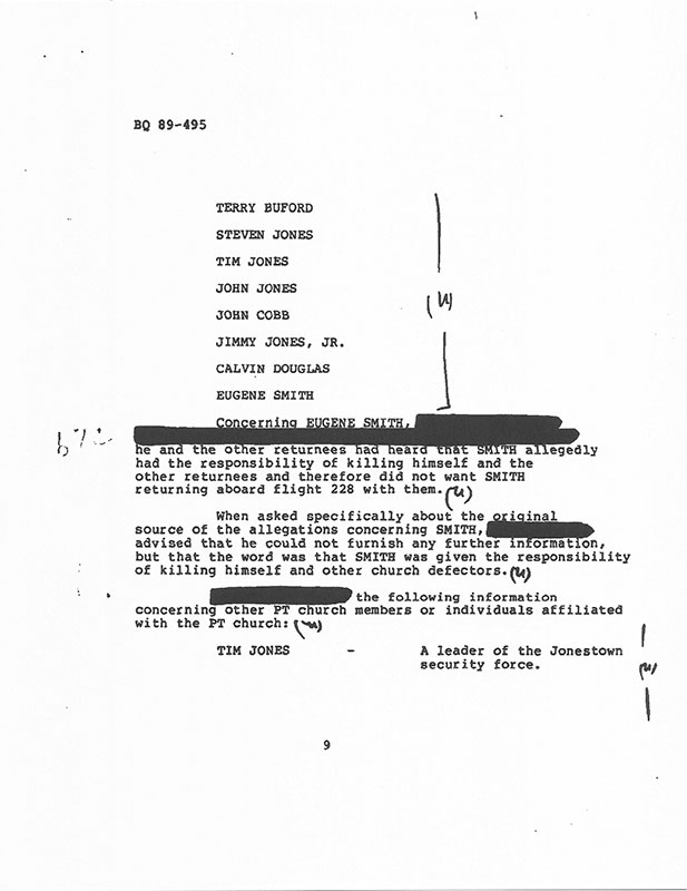A page from Eugene Smith's FBI file, after returning to the United States.