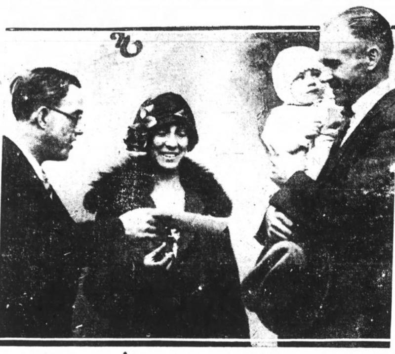 The Nicholson family, as seen in the 'Oakland Tribune' on Nov. 28, 1925.