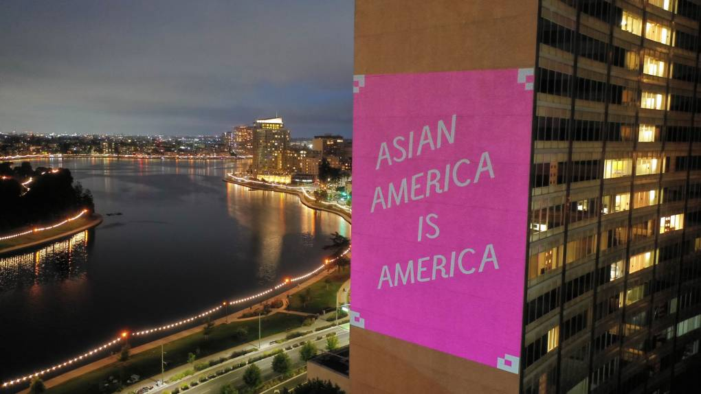 www.kqed.org: Asian American Artists Light Up Buildings With Guerilla Messages of Solidarity