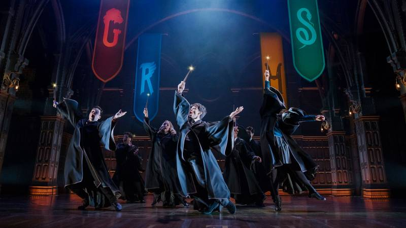 A wand dance from 'Harry Potter and the Cursed Child,' which returns to the Curran Theatre in San Francisco in January 2022.