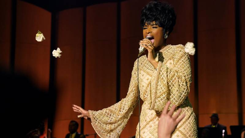 Jennifer Hudson doesn't try to mimic Aretha Franklin so much as channel her spirit. Franklin was heavily involved in the development of 'Respect' up until her death in 2018, and she reportedly handpicked Hudson to star in it.