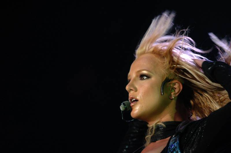 Britney Spears onstage in France in 2004.