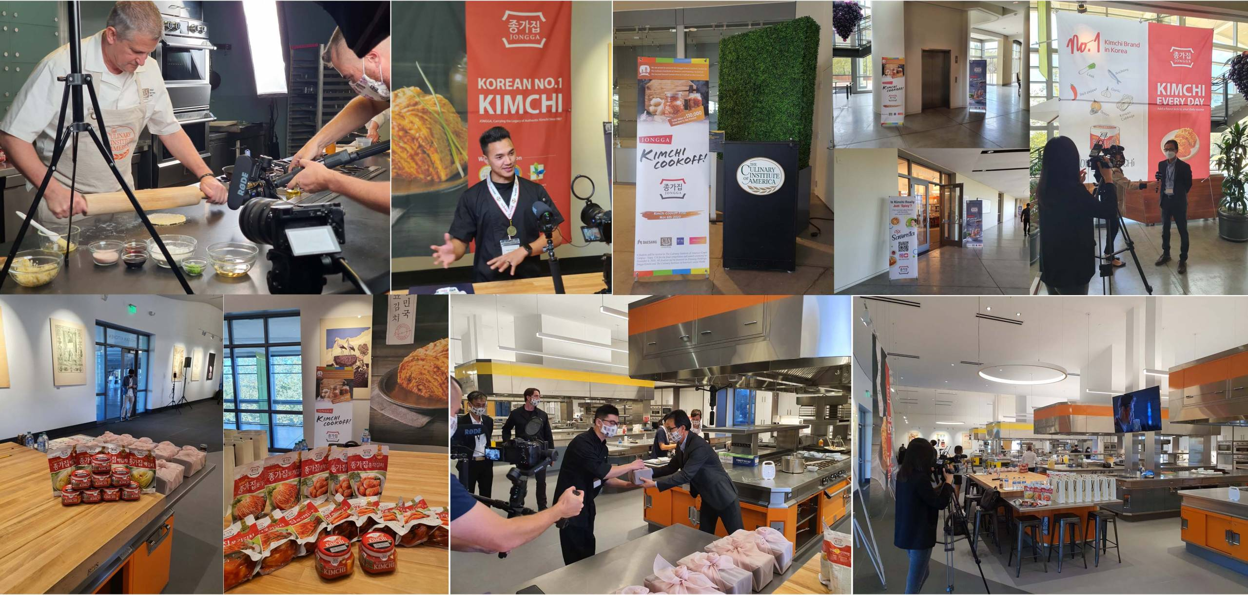 A collage of images from the 2020 Kimchi Cook-Off.