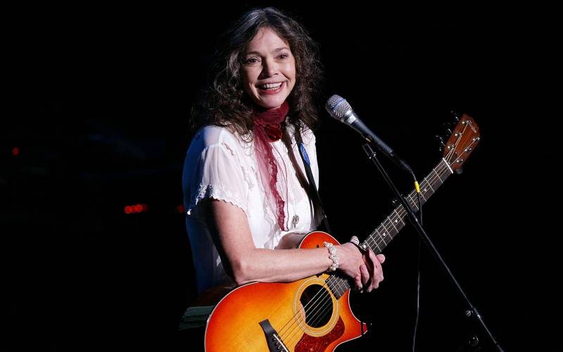 Singer Nanci Griffith particpates in the American Civil Liberties Union's Freedom Concert at Avery Fisher Hall October 4, 2004 in New York City.