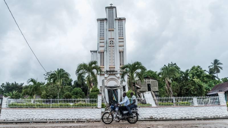 Sainte Rose de Lima Catholic Church in Maniche, Haiti, severely damaged in the recent earthquake.