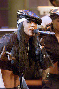 Aaliyah at 'The Tonight Show with Jay Leno' at the NBC Studios in Burbank, July 2001.