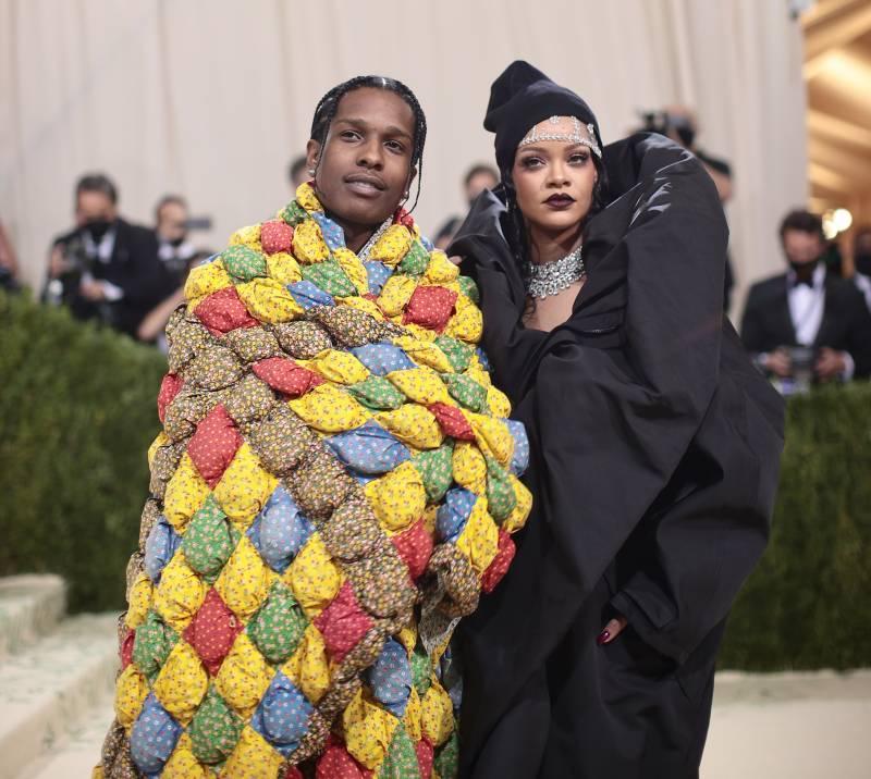 (L-R) A$AP Rocky and Rihanna.