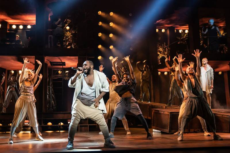 Eric A. Lewis and the company of the North American Tour of 'Jesus Christ Superstar.'