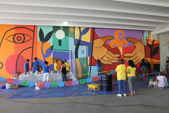 The public library as an incubator for the arts for Define mural painting