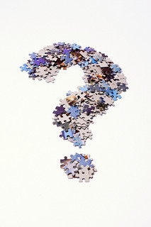 """Question Mark Made of Puzzle Pieces"" by Horia Varlan"