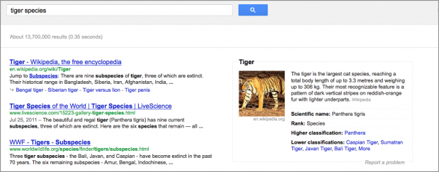 "Searching for ""tiger"""