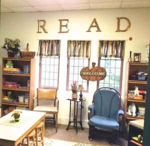 Erin Klein created a comfortable reading nook for her students.
