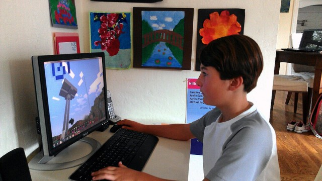 Austin Newman, 10, of Menlo Park, Calif., is not allowed to play video games during the school week. His mother, Michelle DeWolf, said she had to take that step to keep her son focused on his homework during the week.