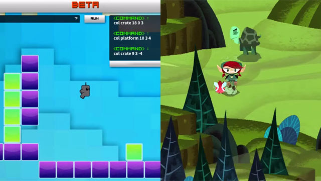 Beta The Game (left) and Hack 'n Slash (right)