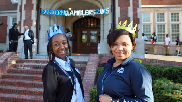 Eastern seniors pose out front on the first day of school (Courtesy Voncia Monchais)