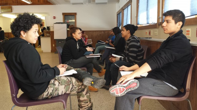 At Landmark High School, students organized a school improvement campaign to improve attendance and engagement. The result was a peer mentoring program and a retreat.  (Courtesy of Ari Sussman)