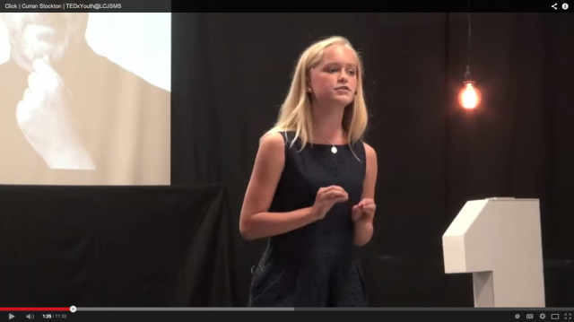 Student Curran Stockton Gives a TEDx talk on technology and communication.