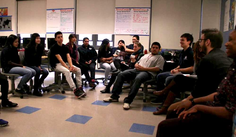 The class discusses different interactions (positive or negative) experienced with the police in their lifetime.