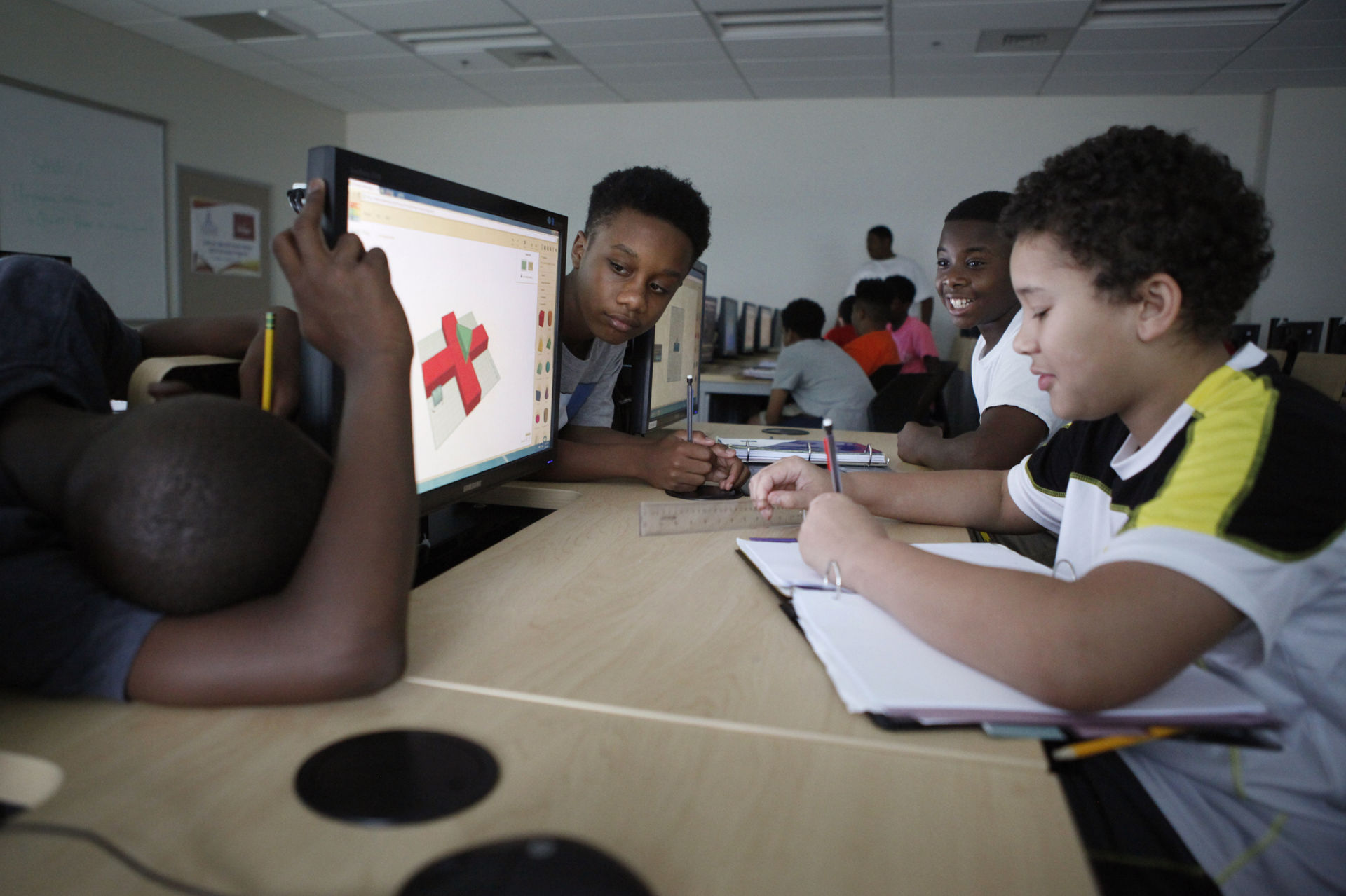 Coding Camp for Minority Boys Where Mentors Make a Big Difference