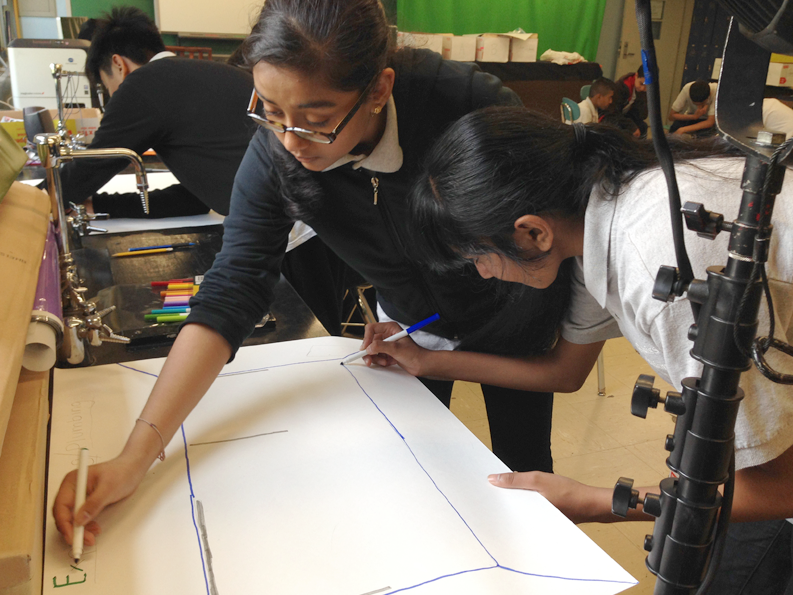 Students get involved in Kurani's design process.