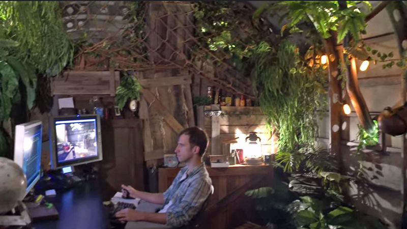 The Pixar in a Box videos show glimpses of what it might be like to work at Pixar, including an office designed to feel like a jungle.