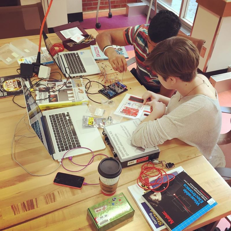 Hacking and learning wearable tech in the NCSU makerspace.