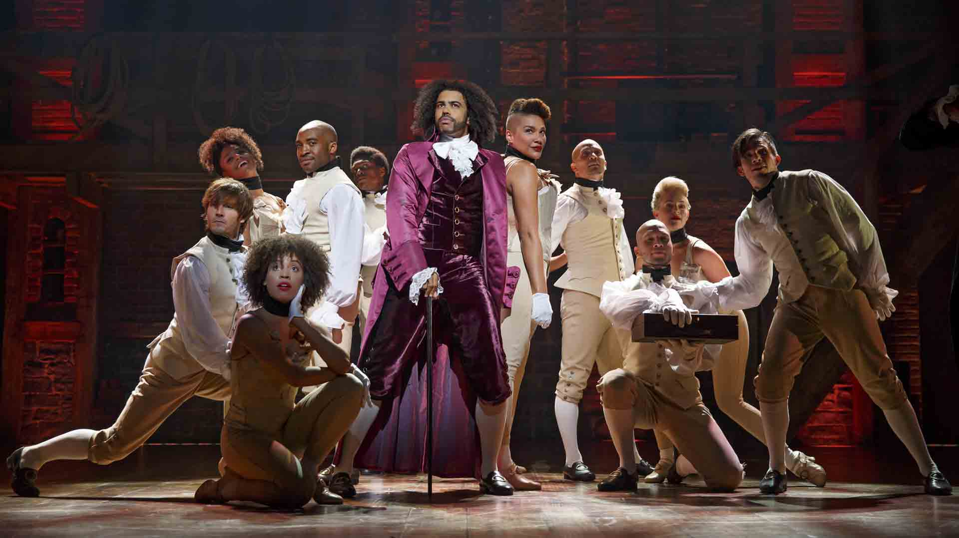 HamiltonBway0341r-Daveed-Diggs-as-Thomas-Jefferson-and-the-ensemble-of-HAMILTON