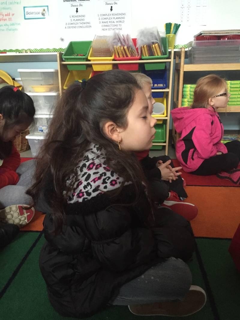 Marysville student practice mindfulness