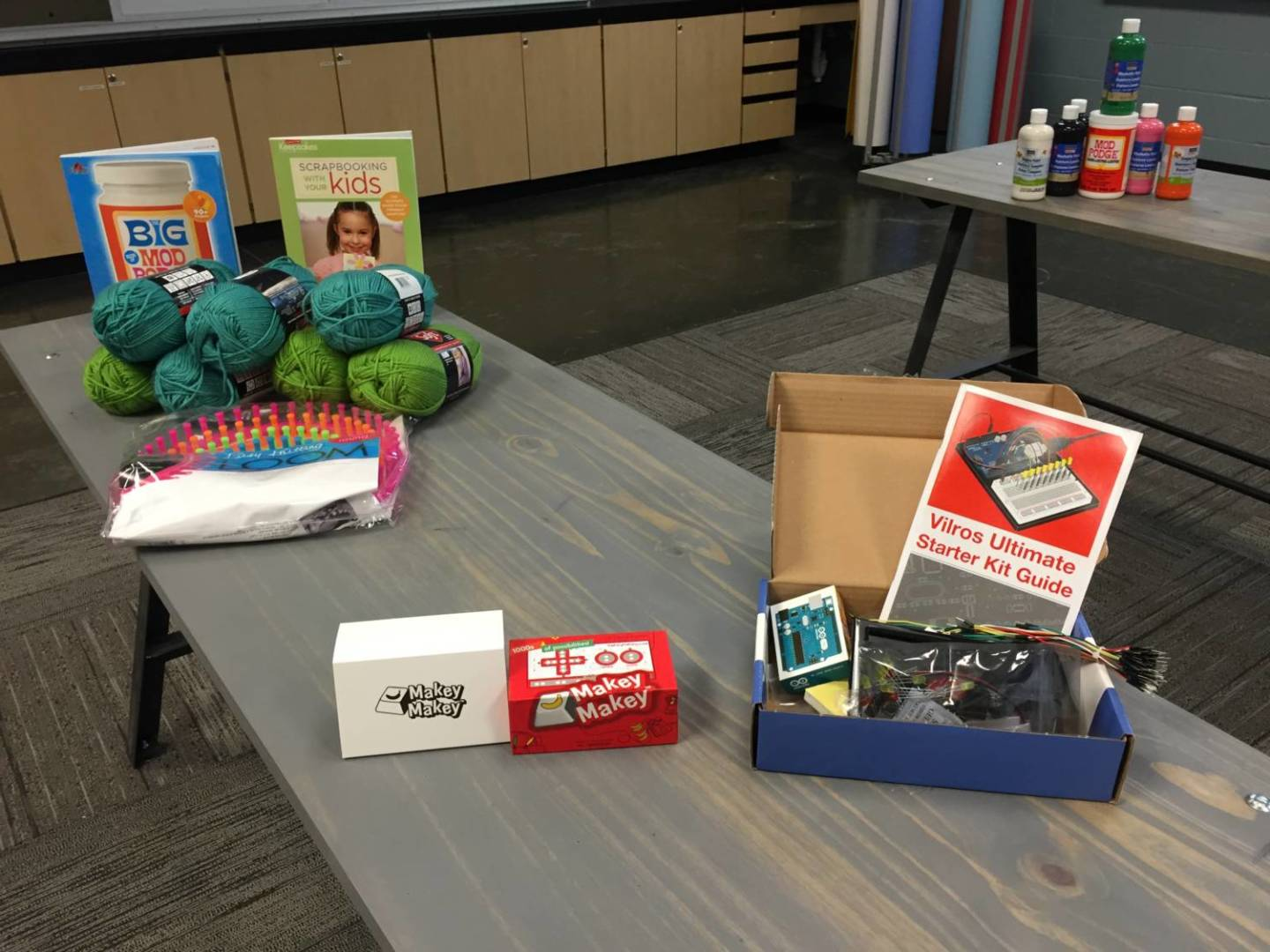 Carlson said it's important that makerspaces have a variety of materials so students can choose what inspires them.