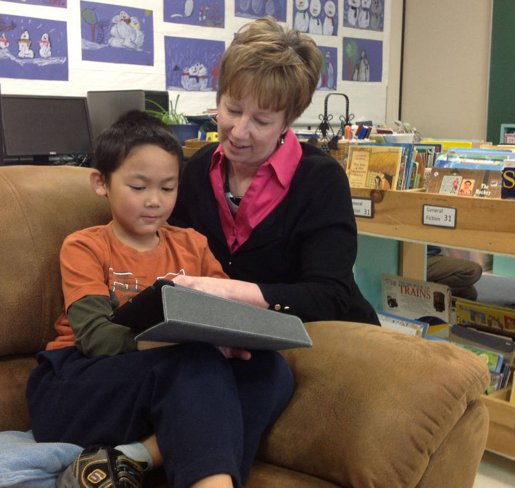 Kathy Cassidy with her student.