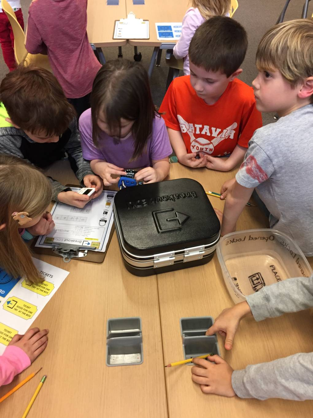 Teachers often help students decide who is going to open each lock ahead of time to prevent tears with younger students.