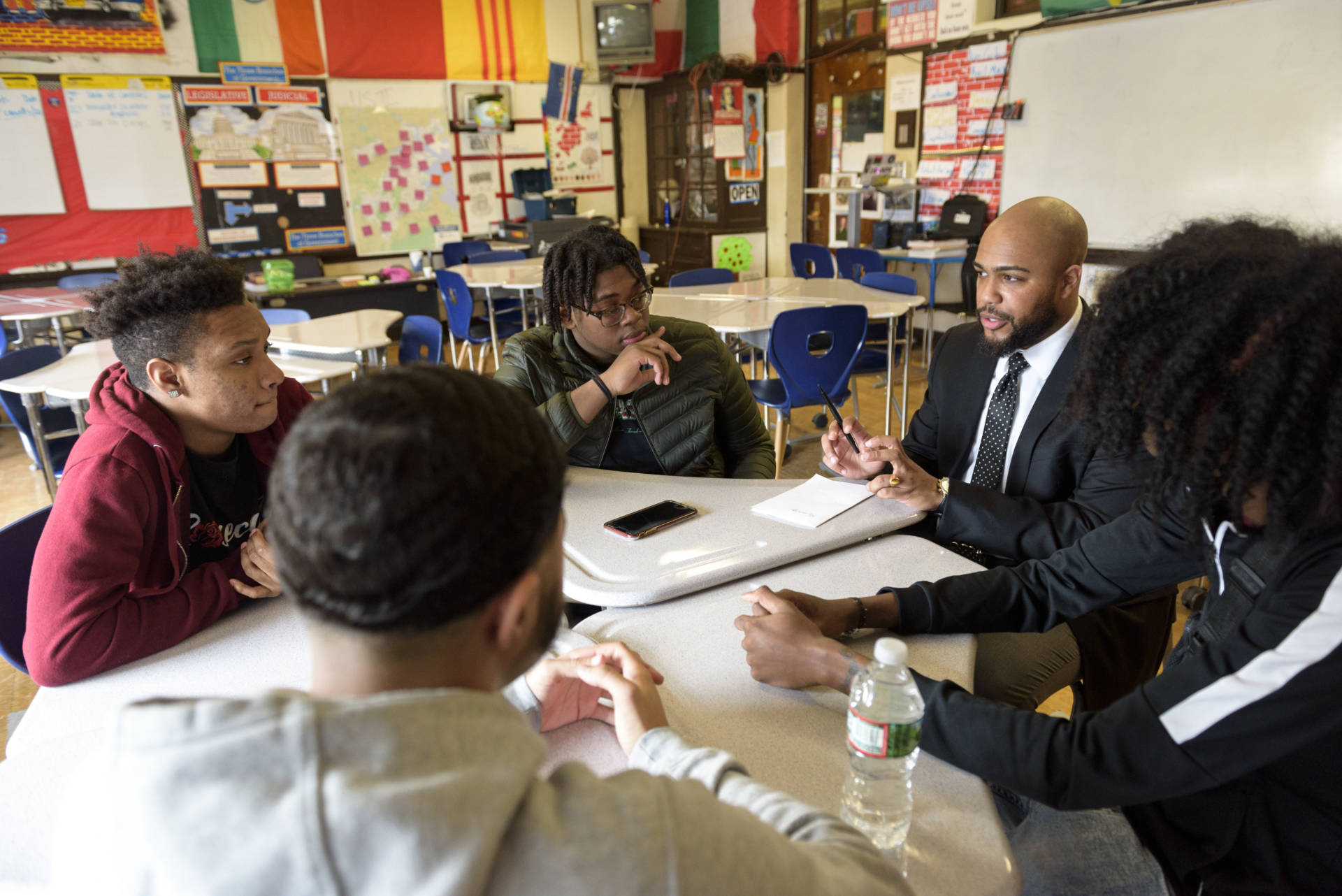History teacher Samuel Texeira has been a mentor for young black students at Henderson K-12 Inclusion School.