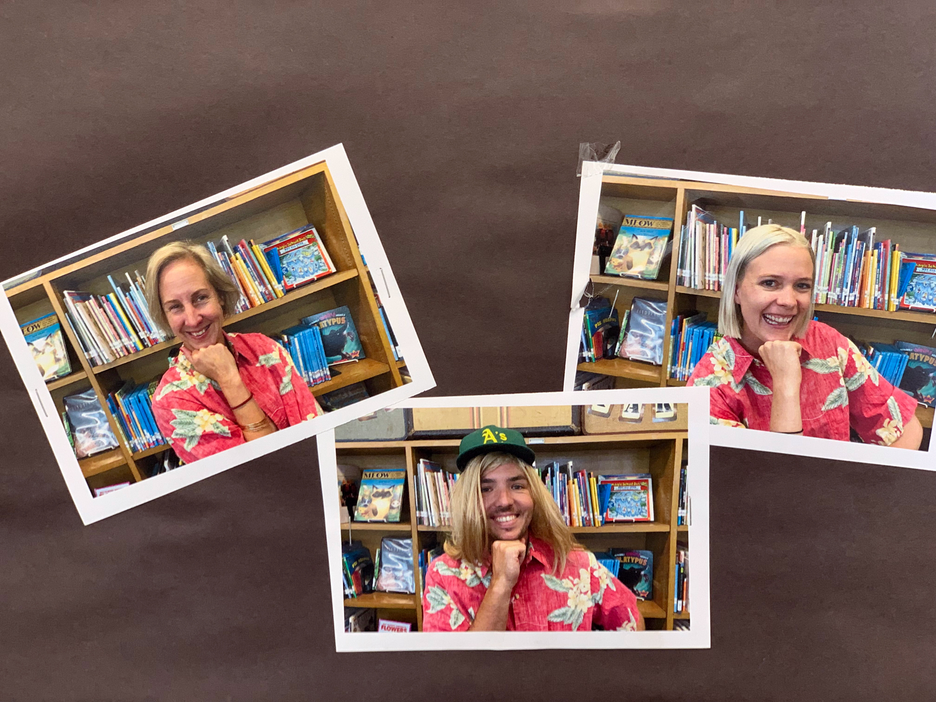 The third grade teaching team greeted students with a fun photo.