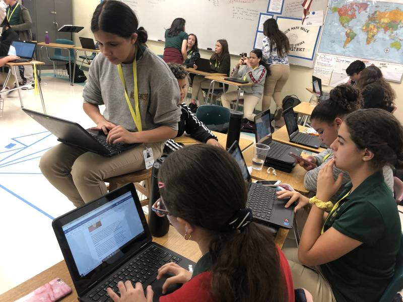 Miami Middle School Students Hope Their Magazine Will Help End Gun Violence