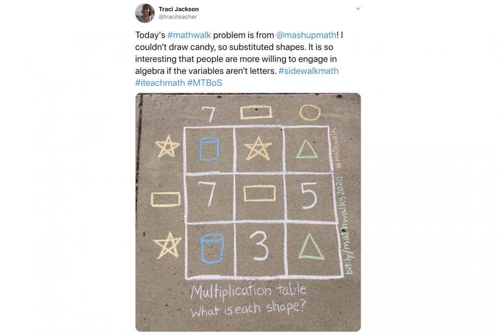 How Sidewalk Math Cultivates a Playful, Curious Attitude Towards Math - MindShift