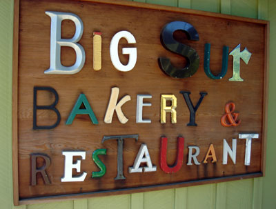 Big Sur Bakery and Restaurant sign