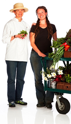 Sara Tashker of Green Gulch Farm and Annie Somerville of Greens Restaurant