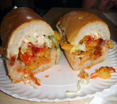 shrimp po-boy