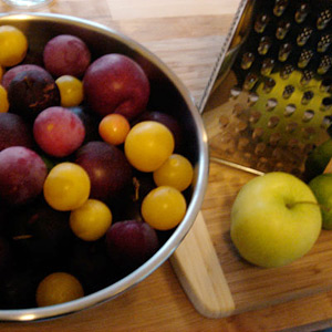 plums for making plum jam