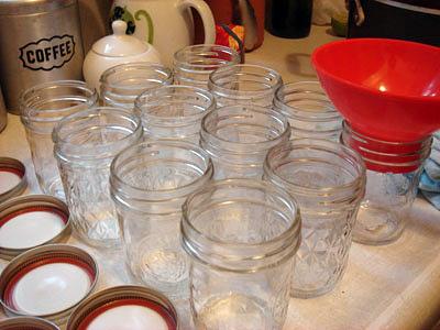 plum jam jars